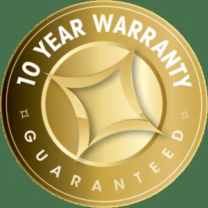 10 Year Warranty Guaranteed